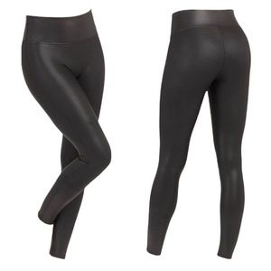 SPANX metallic faux leather legging | M